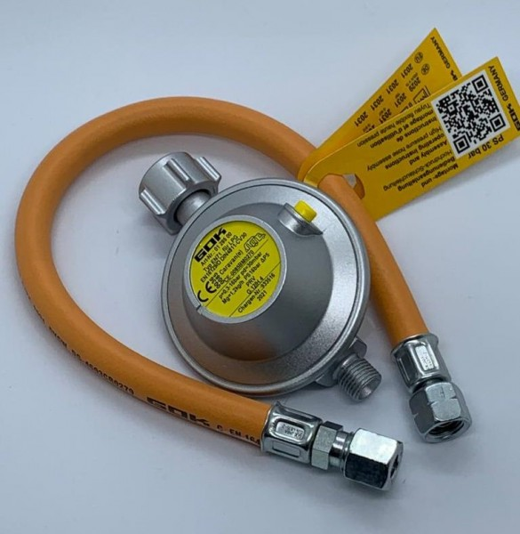 10 Jahre Austauschset Gasdruckregler und Schlauch